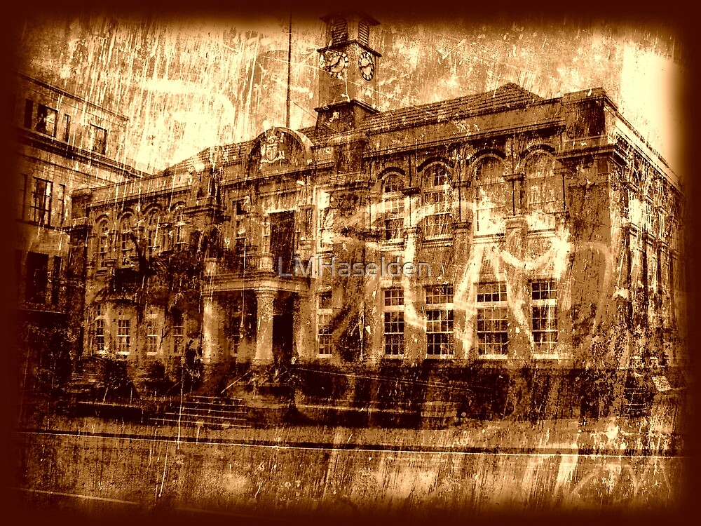 Town Hall - Sepia by Lynne Haselden