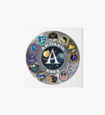 Apollo Mission Composite Logo Art Board