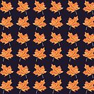 Fall Maple Leaf Pattern by Erika Lancaster
