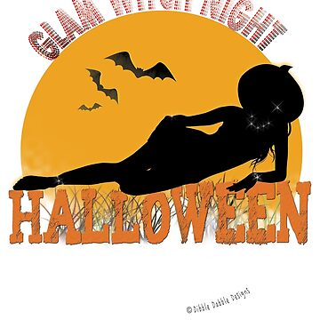 Glam Witch Night Halloween Design by Dibble-Dabble