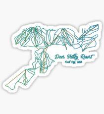 Deer Valley Resort Trail Map Sticker