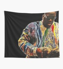 Biggie counting dollars Wall Tapestry