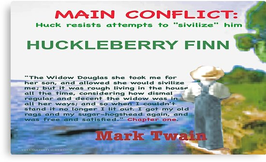 conflicts in huckleberry finn
