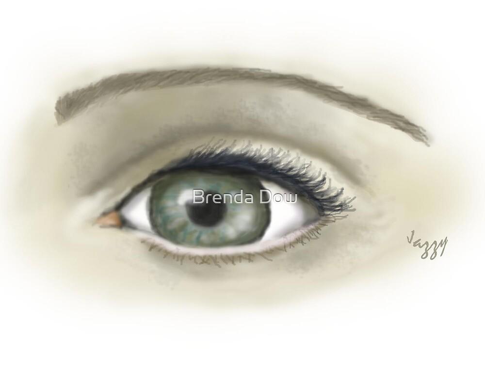 Eye  sketch with digital paintbrush by Brenda Dow
