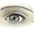 Eye  sketch with digital paintbrush by Brenda Dow