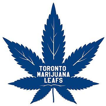 Toronto Marijuana Leafs - Blue by Phneepers