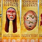 Cherokee Clans welcome banners by David Lee Thompson