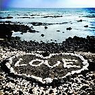 """Hawaii Black Sand Beach and Coral """"Love"""" Heart by Luceworks"""