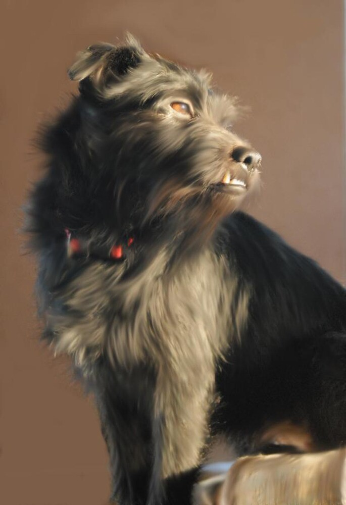 An oil painting of my dog Jessie by stutheartist