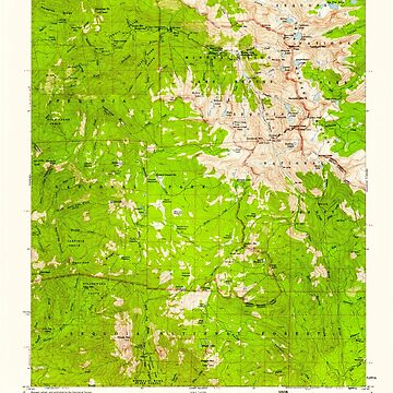 USGS TOPO Map California CA Mineral King 298202 1956 62500 geo by wetdryvac