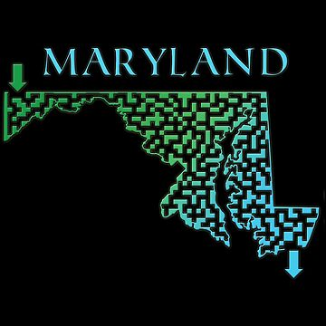 Maryland State Outline Maze & Labyrinth by gorff