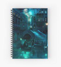 Venice Moon Spiral Notebook