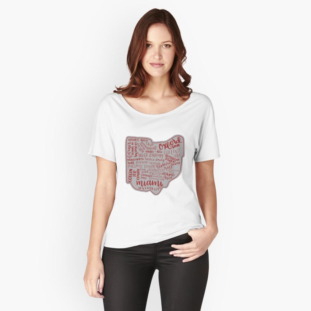 Miami University Ohio Kunstdruck Loose Fit T-Shirt