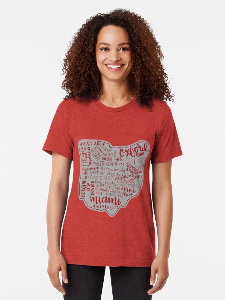 Alternative Ansicht von Miami University Ohio Kunstdruck Vintage T-Shirt