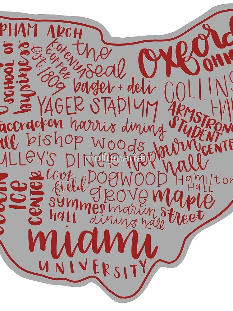 Miami University Ohio Kunstdruck von mollymariani