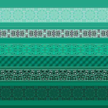 Turquoise striped patchwork by fuzzyfox