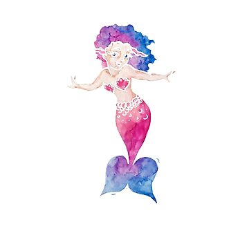 Cute watercolor Mermaid by Boogiemonst