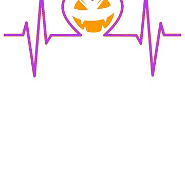 Heartbeat JACK O LANTERN Halloween Holiday T shirt by we1000