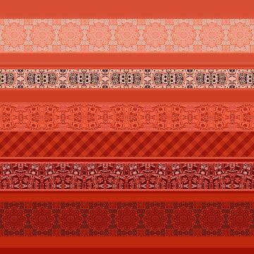 Orange striped patchwork by fuzzyfox