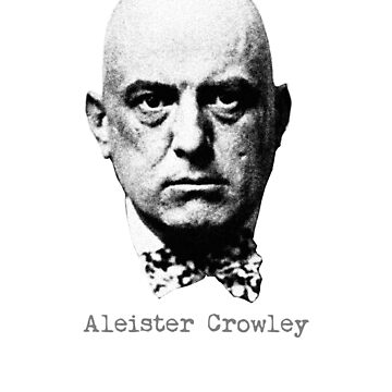 Aleister Crowley occult goth satanic evil magician poet gift t shirt by Johannesart