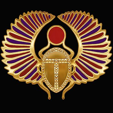 Egyptian Scarab Art by Skyviper