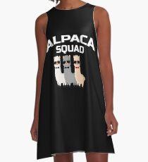 Alpaka-Gruppe LLama Zoo Farm Animal Geschenk A-Linien Kleid