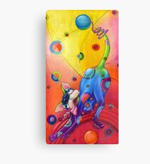 Topsy-turvey Tripper: dog at play Canvas Print