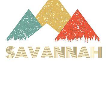 Retro City of Savannah Mountain Shirt by tedmcory