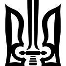 Stylized Tryzub (Black) by viktor64