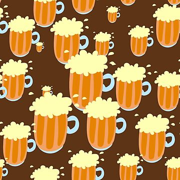 """I LIKE BEER"", The Judge Kavanaugh Sudsey Mug of Beer Party Print by bebebelle"