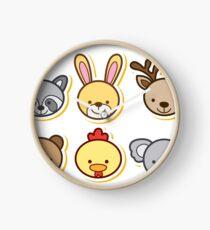 Animals Cartoon Clock