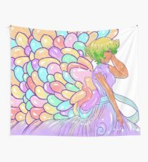 The Girl with Balloon Wings Wall Tapestry