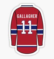 Brendan Gallagher Jersey Sticker