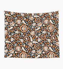 Day of the Dead Cat and Pattern Wall Tapestry