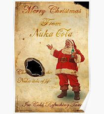 Fallout Merry Christmas from Nuka Cola Fan Art Poster