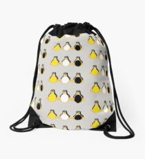 LINUX TUX PENGUIN  3 COLOR EGGS Drawstring Bag