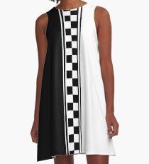 Stylish black and white ska inspired v2 A-Line Dress