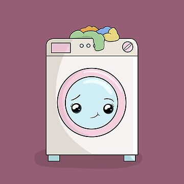 Kawaii Washing machine  by ValentinaHramov