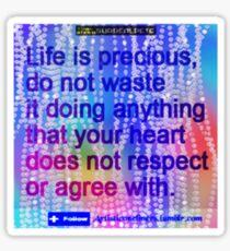 Precious Life Sticker