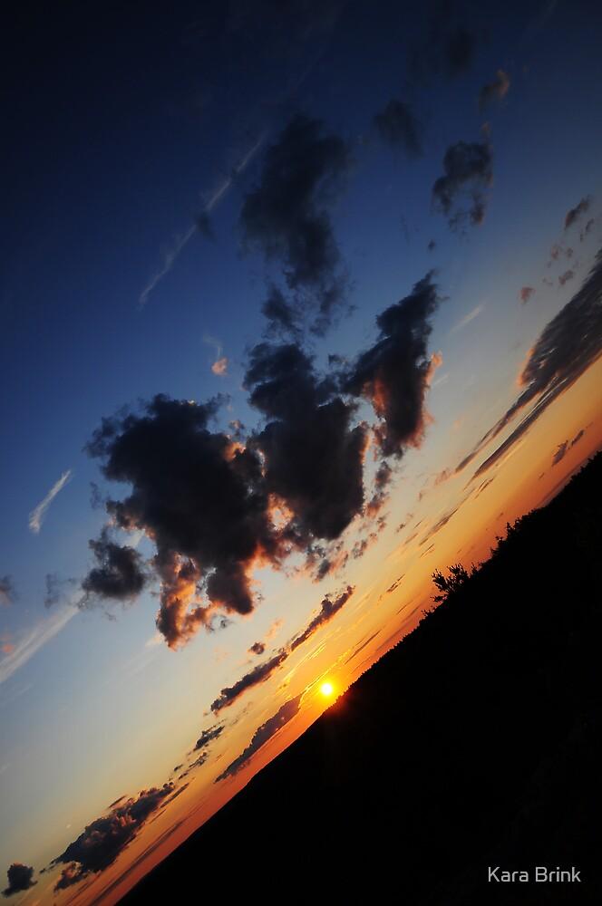 sunset tilted by Kara Brink