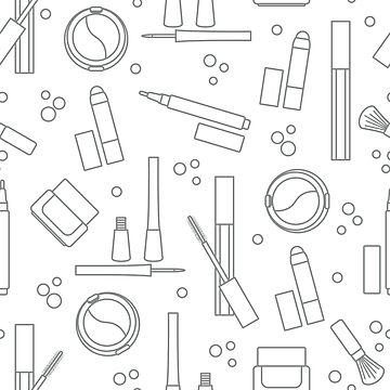 Seamless pattern of decorative cosmetics. by aquamarine-p