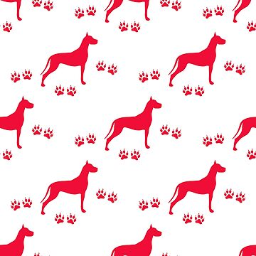 Seamless pattern with dog and dog tracks. by aquamarine-p