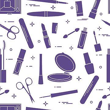 Pattern of decorative cosmetics, nail tools. by aquamarine-p