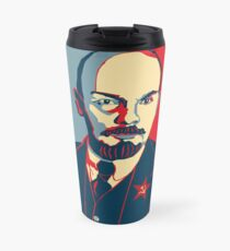 LENIN RED BLUE PORTRET  Travel Mug