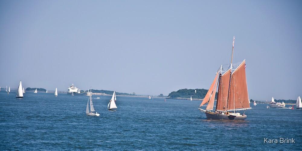 a boat among many by Kara Brink