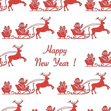 Happy New Year 2019 seamless pattern. Santa Claus by aquamarine-p