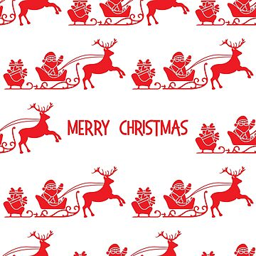 Christmas 2019 seamless pattern Santa Claus, gifts by aquamarine-p
