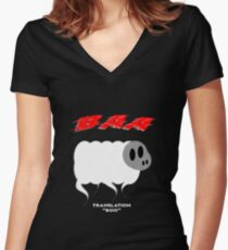 Ghost Sheep Women's Fitted V-Neck T-Shirt