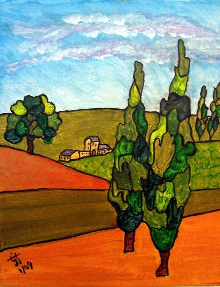Tuscan Peace by TrixiJahn