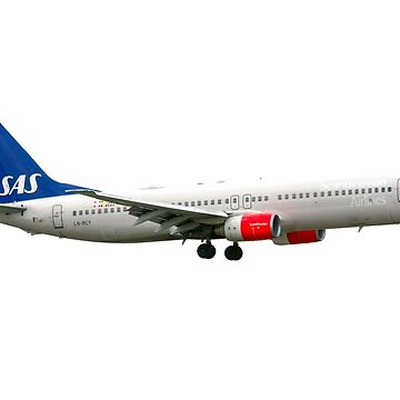 SAS Scandinavian Airlines System Boeing 737 Next Gen. at Milan Malpensa (MXP / LIMC) Italy cutout on white background by PhotoStock-Isra